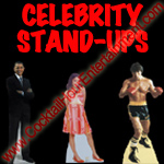 celebrity stand ups cardboard cutouts photos