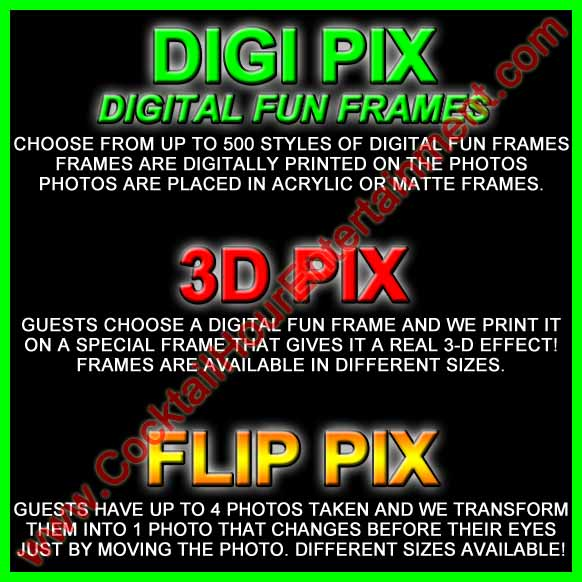 digi pix, 3d pix, and flip pix packages