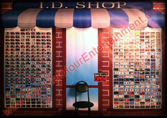 ID Card Display for Bar Mitzvah Entertainment