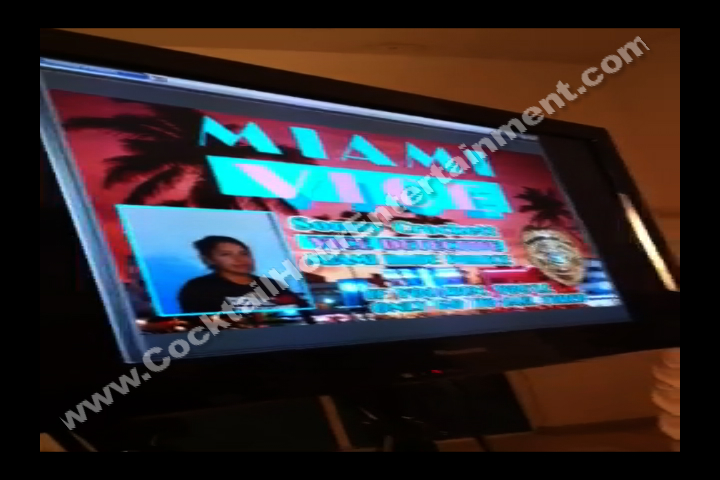 Sample ID Cards TV preview display for Bar Mitzvah Entertainment