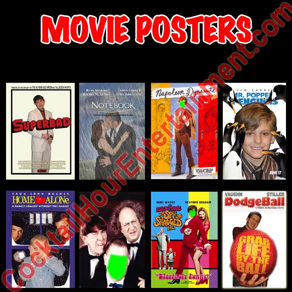 movie posters heads on body package