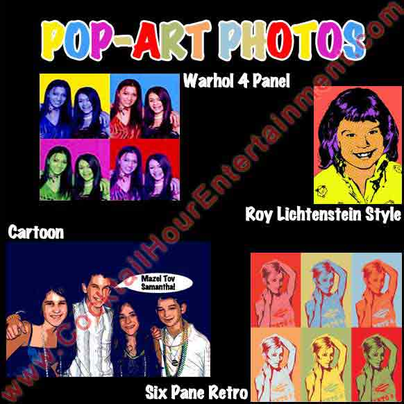 pop art photo packages