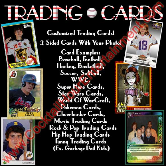 trading cards baseball cards photo favor package
