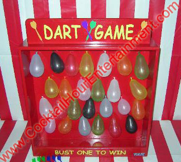 carnival dart game with balloons