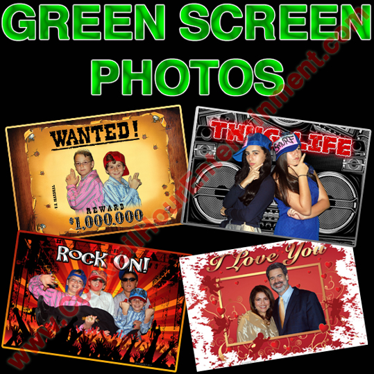 digital green screen photo package
