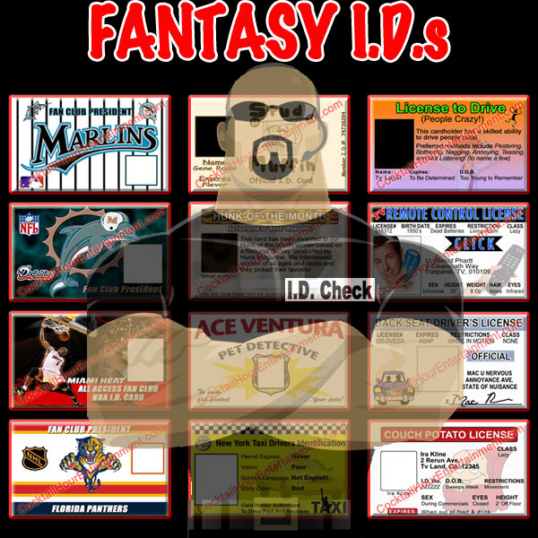 fantasy fake I.D.s package
