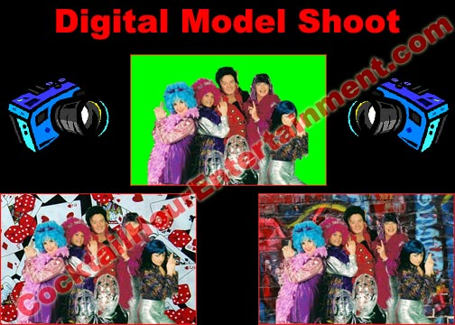 digital model shoot green screen package