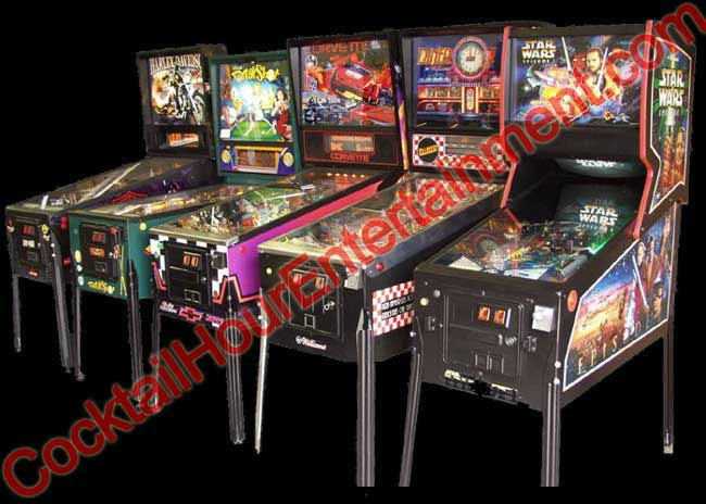 pinball machine game party rental